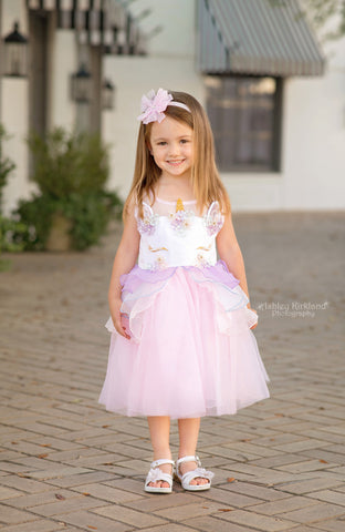 The enchanted wardrobe girls boutique unicorn tutu dress
