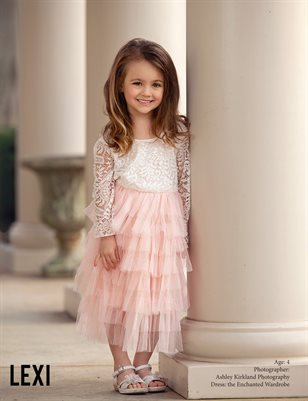 girls pink boutique dress the enchanted wardrobe brand ambassador model