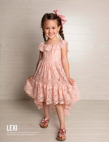 pink mauve lace dress girls boutique models