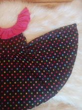Rainbow Polka Dot Super Twirl Dress - the Enchanted Wardrobe