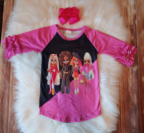 Fashion Dolls Ruffle Raglan Top - the Enchanted Wardrobe