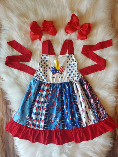 Patriotic Unicorn Panel Dress - the Enchanted Wardrobe