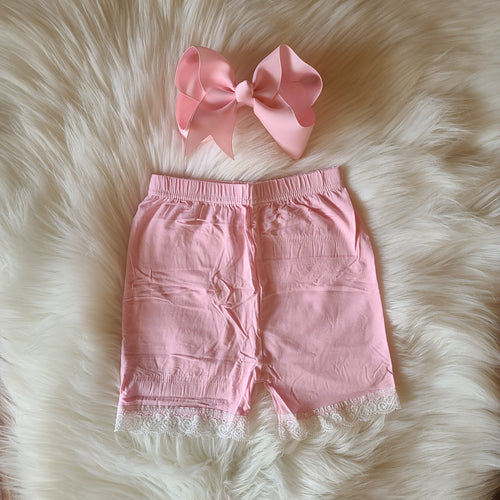 Lace Trimmed Cartwheel Shorts