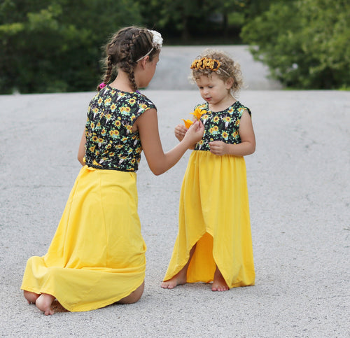 Boho Sunflower Mommy & Me Dress - the Enchanted Wardrobe