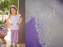 Lavender Lace Flutter Top - the Enchanted Wardrobe