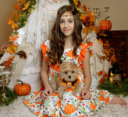 Harvest Pumpkin Tiered Ruffle Dress - the Enchanted Wardrobe
