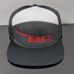 TLD Logo Snap-Back(Black/Grey/White- Red Logo)