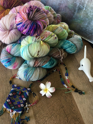 Life's a Beach hand dyed yarn