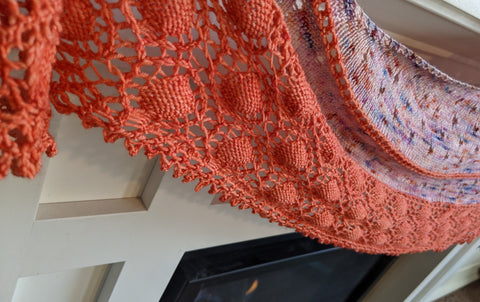 Oyster Shawl by Ambah O'Brien