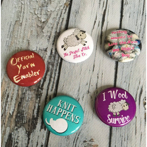 Knitting Buttons | Set of 5 Buttons | Knitting fun