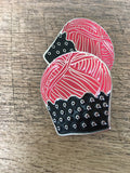 Yarn Cupcake Soft Enamel Pin