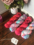 Electric Peach | Hand Dyed Yarn
