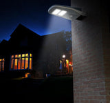 Example of wall mount solar LED light for area lighting