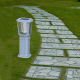 Example of strong and elegant solar light pole bollard for landscape