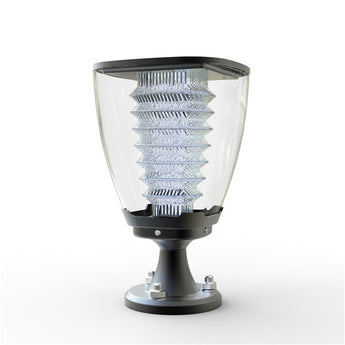 Elegant LED Solar Lamp Post or pillar for living area side view