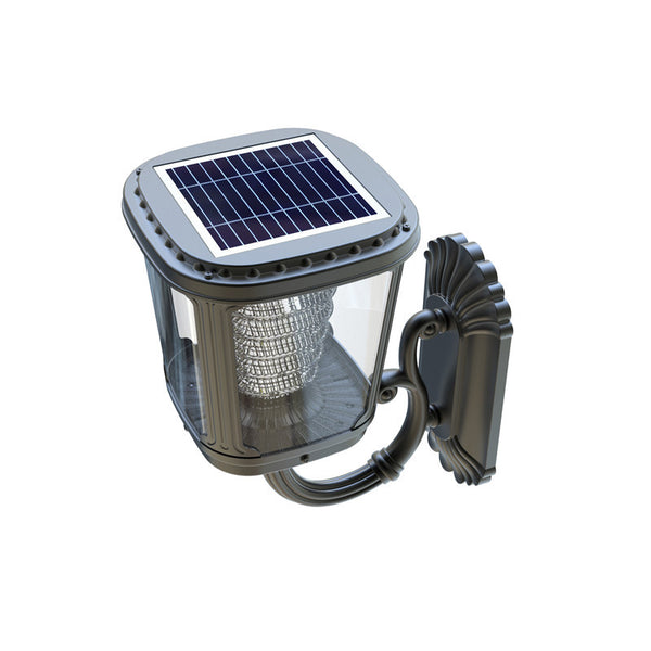 Wall mount solar light and landscape lighting top view