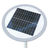 Powerful solar LED backyard light top view
