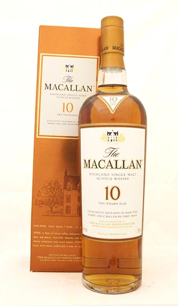 Macallan 10 Year Old Sherry Oak Single Speyside Malt Whisky