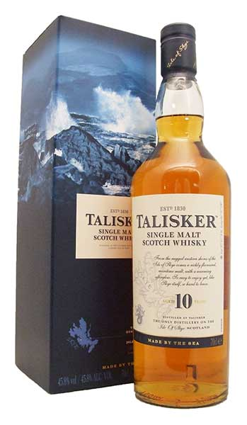 Talisker 10 Year Old Single Island Malt Whisky