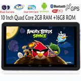 10 inch 2G 3G Phone Call Quad core Android Tablets pc 2GB 16GB Dual sim card