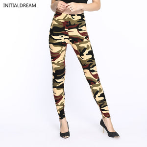 Camouflage Print Stretch Leggings