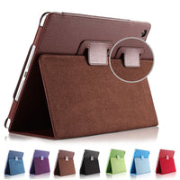 Flip Cover For Ipad Mini 1 2 3 Matte Litchi Soft PU Artificial Leather Case Magnetic