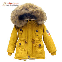 Girls /boys USA flag hooded thick  winter coat