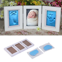 Cute Baby Photo frame DIY handprint or footprint Soft Clay non toxic