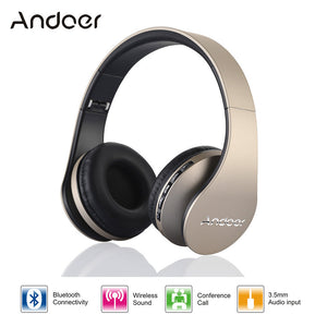 Digital 4 in 1 Andoer LH-811 Stereo Wireless Bluetooth 4.1 + EDR Headphone with Mic MicroSD/TF FM Radio