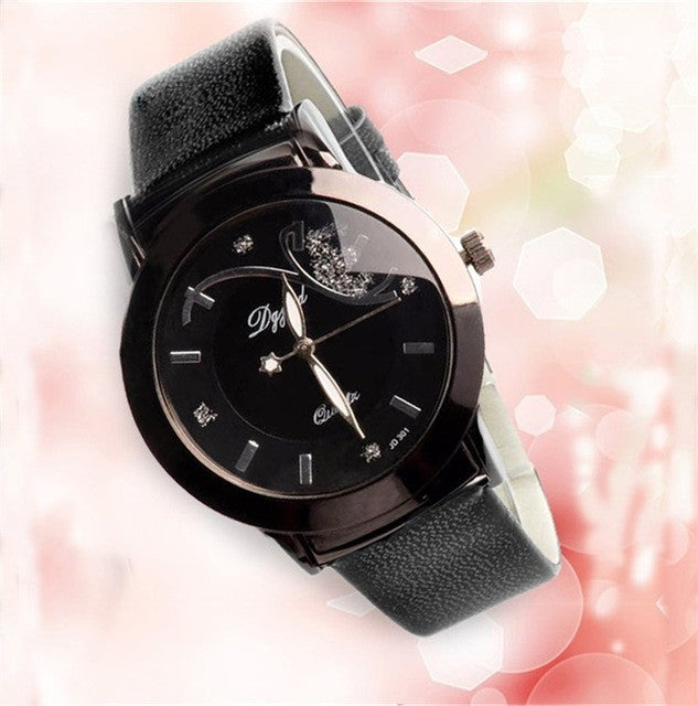 Relogio Feminino Quartz Luxury Leather Strap Ladies Wristwatch