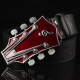 Men's metal buckle belts retro guitar