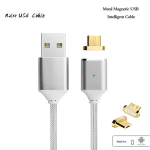 Magnetic Cable Charger Nylon Braided Micro USB Data  Cable for Xiaomi,Samsung,Android