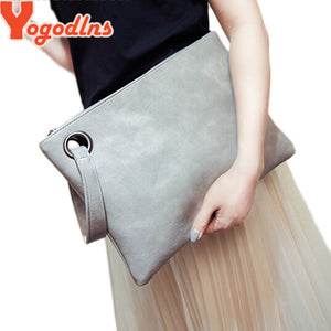 Yogodlns Fashion solid women's clutch, envelope, evening bag