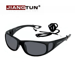 JIANGTUN Polarized Sunglasses Woith Side Window Design