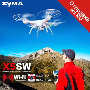 Syma X5SW Drone with WiFi Camera Real-time 2.0MP HD Camera 2.4G 4CH RC Helicopter