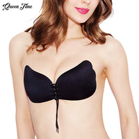 Women's Self Adhesive Strapless Silicone Push Up Invisible Bra