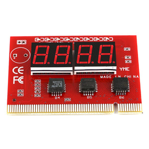 Computer Motherboard LED 4 Digit Analysis Diagnostic