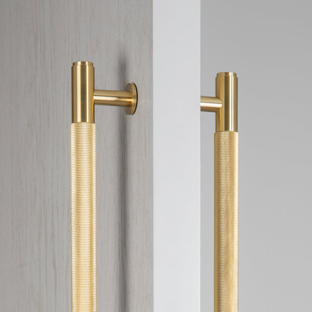 PULL BAR / DOUBLE-SIDED / MEDIUM / BRASS (Pair)