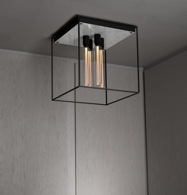 CAGED CEILING 4.0 / POLISHED WHITE MARBLE