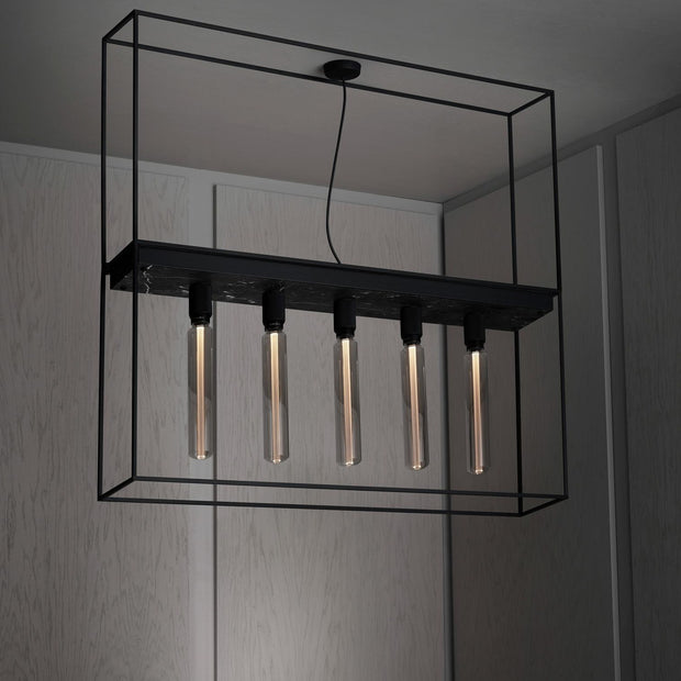 CAGED CEILING 5.0 / SATIN BLACK MARBLE