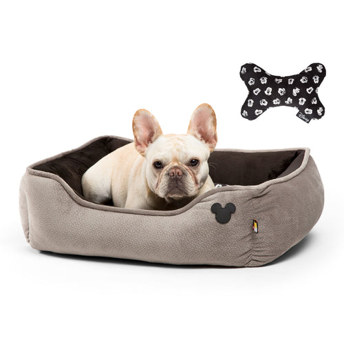 Mickey Bobble Rectangular Cuddler Grey