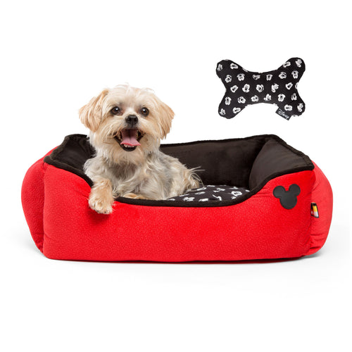 Mickey Bobble Rectangular Cuddler Red