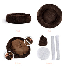 Shag Donut Cuddler Dark Chocolate 30""