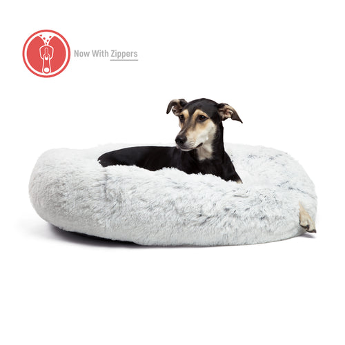 Shag Donut Cuddler (Zippered) Frost 36