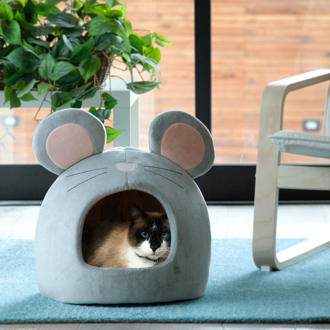 Mouse Novelty Hut Grey