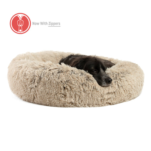 Shag Donut Cuddler (Zippered) Taupe 30