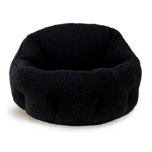 Sherpa OrthoComfort Deep Dish Cuddler Black