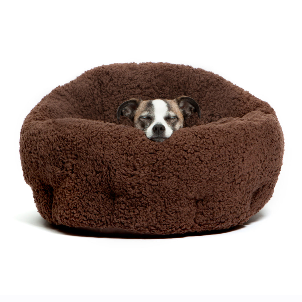 Sherpa OrthoComfort Deep Dish Cuddler Brown