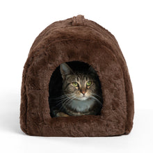 Lux Fur Pet Igloo Dark Chocolate