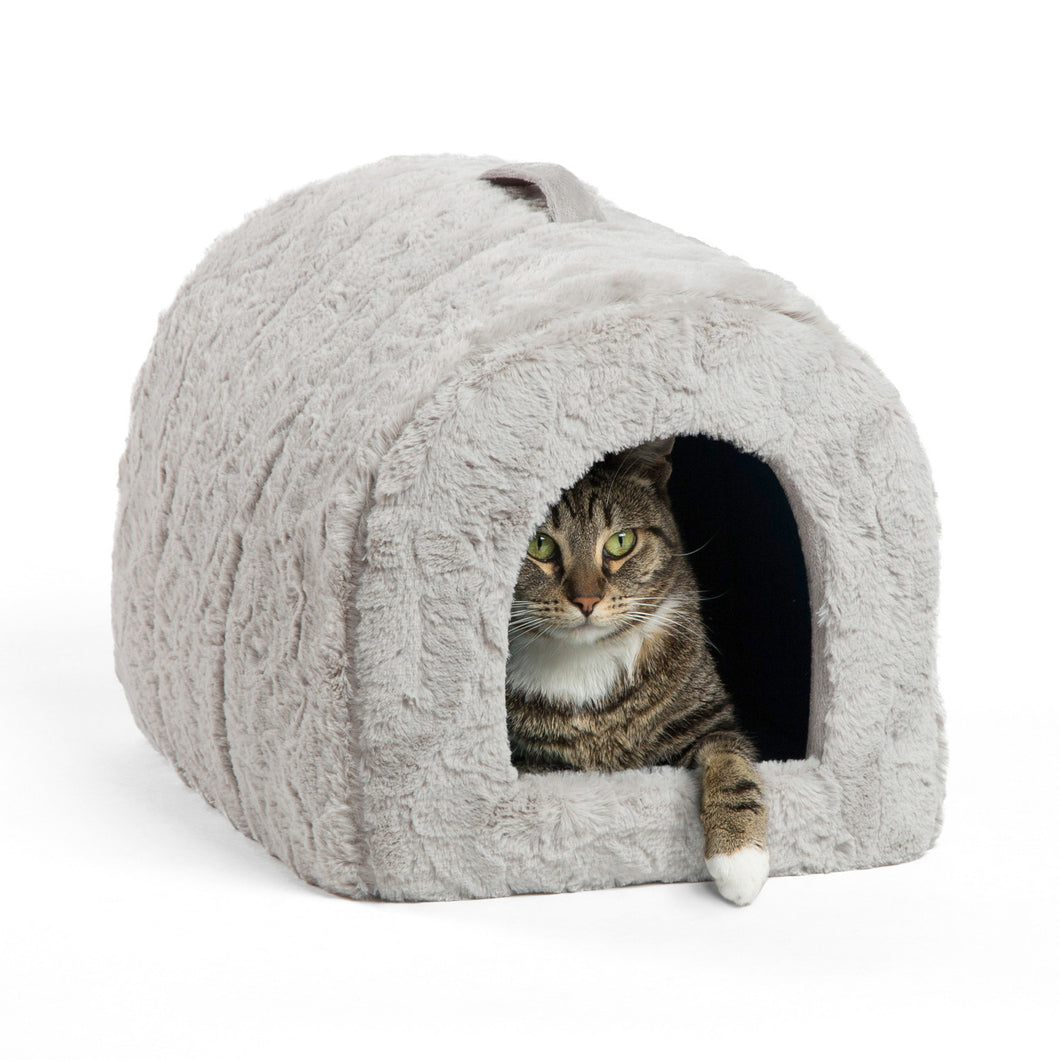 Lux Fur Pet Igloo Grey